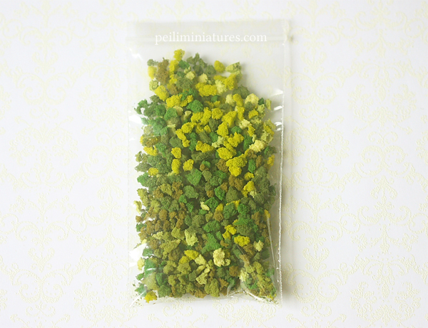 Modeling Grass for Dollhouse Miniature Flower Arrangements-modeling grass, buy modeling grass, miniature grass