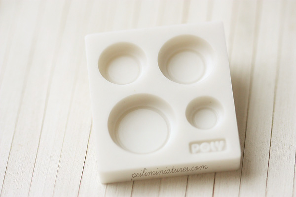Miniature Clay Mold - Push Mold for Making Dollhouse 1/12 Scale Round Bowls