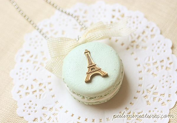 Macaron Eiffel Tower Necklace - Macaron Jewelry