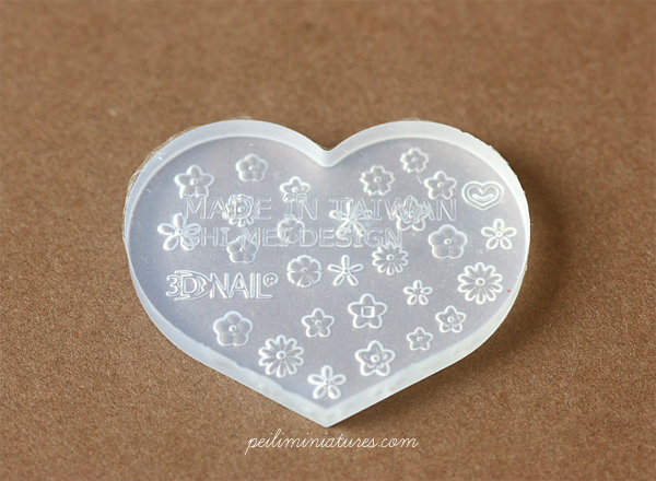 Miniature Clay Push Mold - Assorted Mini Flowers-miniature clay push mold
