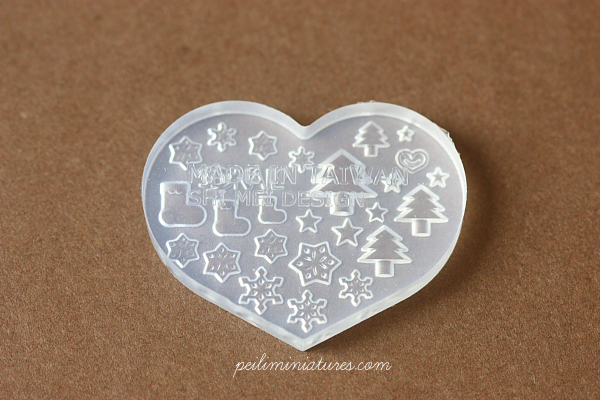 Miniature Clay Push Mold - Christmas Designs-miniature clay push mold
