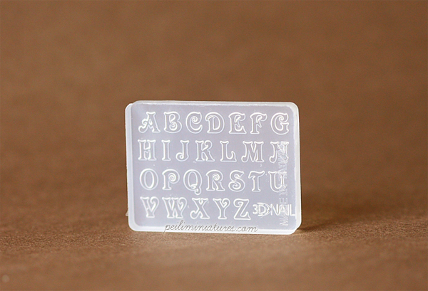 Alphabet Block Letters Miniature Mold