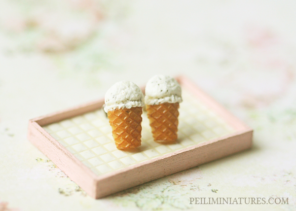 Dessert Earrings - Vanilla Ice Cream Earrings Stud