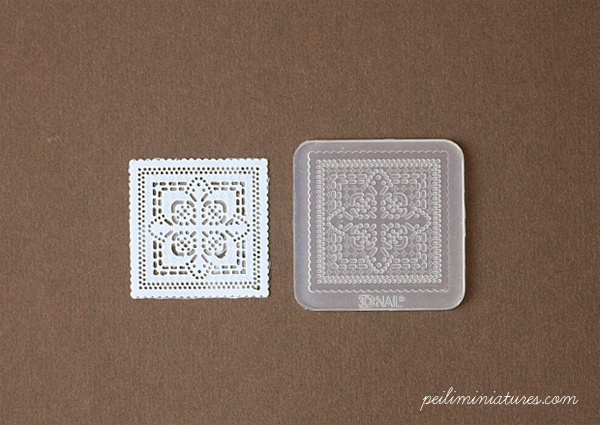 Doily Lace Mold - Square Mold - Silicone Lace Mold - 3.5cm-square mold, silicone lace mold