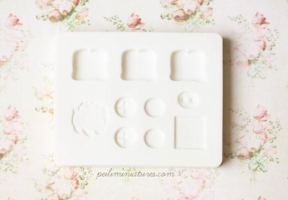 Miniature Food Mold - Sandwich Mold - Air Dry Clay Mold-sandwich mold, miniature food mold