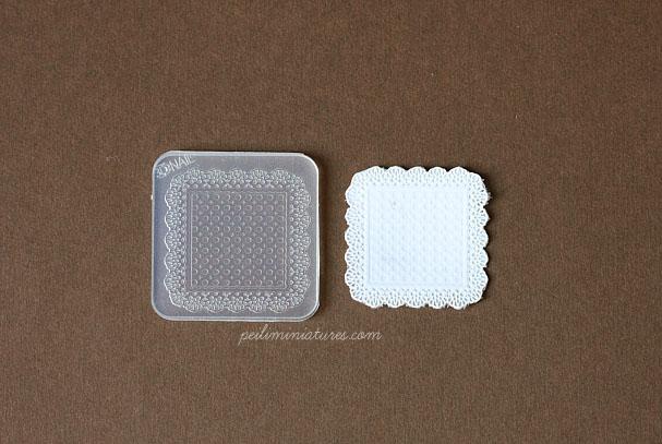 Doily Lace Mold - Square Mold - Silicone Lace Mold - 3.7cm