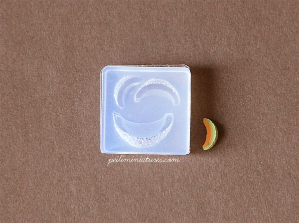 Miniature Honey Dew Slice Mold-honey dew mold, miniature fruit mold