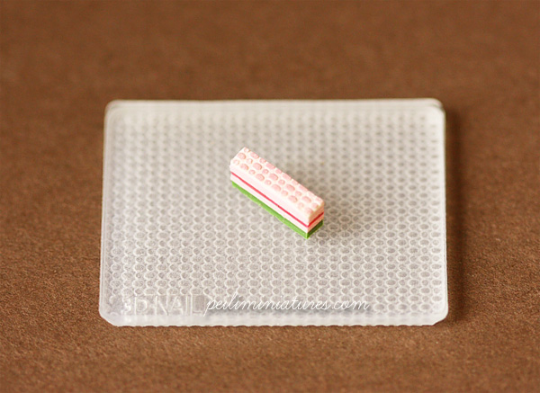 Dollhouse Miniature Pattern Silicon Mold 4 - Cake Decoration Mold-miniature cake mold, dollhouse cake mold