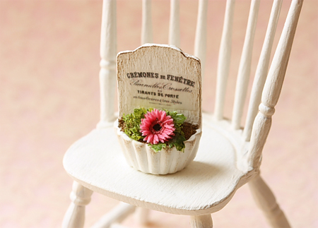 Dollhouse Miniature Flowers - Gerbera Daisy Plant-dollhouse miniature flowers, gerbera daisy, french chic