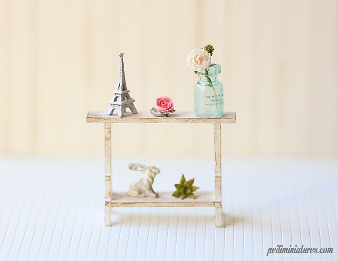 Dollhouse Miniature Eiffel Tower Zakka Shelf - 1/12 Dollhouse Miniature Scale-dollhouse miniature shelf, eiffel tower shelf