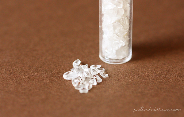 Large Crushed Ice for Miniature Clay Drinks-crushed ice, fake crushed ice,