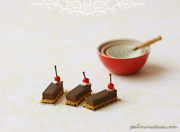 Dollhouse Miniature Food - Cherry Choconoisette