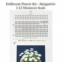 Dollhouse Flower Kit - Miniature Marguerite Flower Plant Paper Kit
