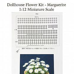 Dollhouse Flower Kit - Miniature Marguerite Flower Plant Paper Kit