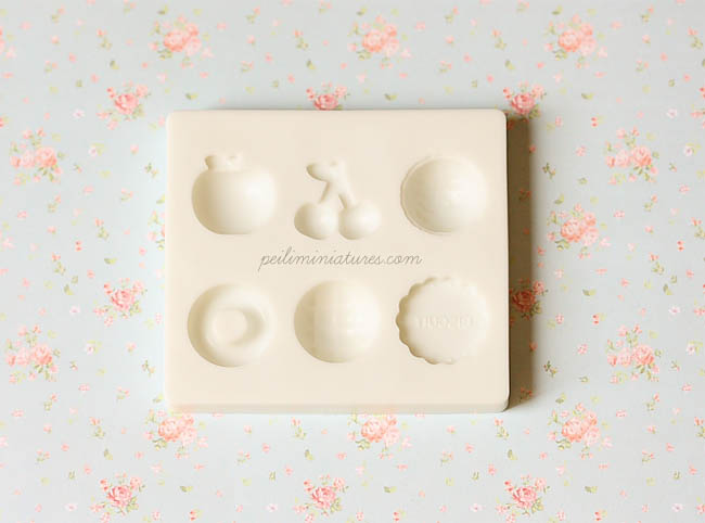 Miniature Soft Mold for Resin or Clay - Fruits and Sweets-miniature soft mold, mold for resin and clay