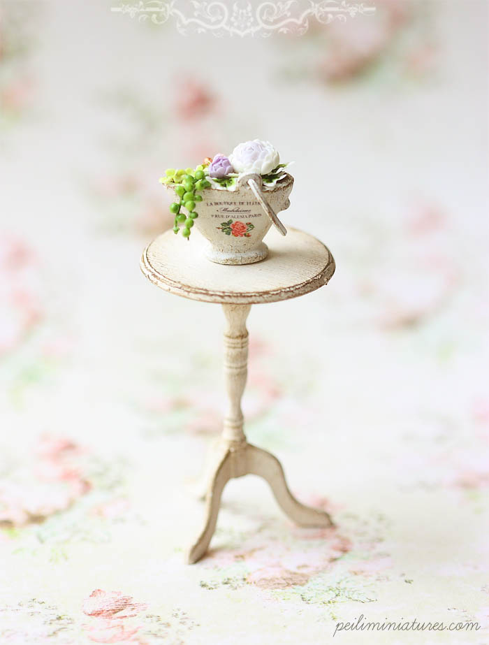 Dollhouse Miniature Flower Arrangement - Garden Secrets-dollhouse miniature flowers