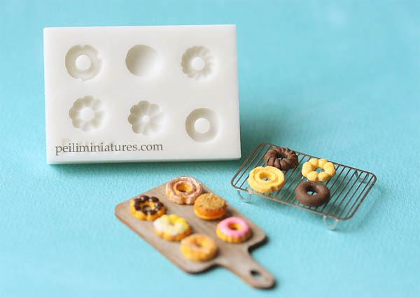 Dollhouse Miniature Donuts Mold