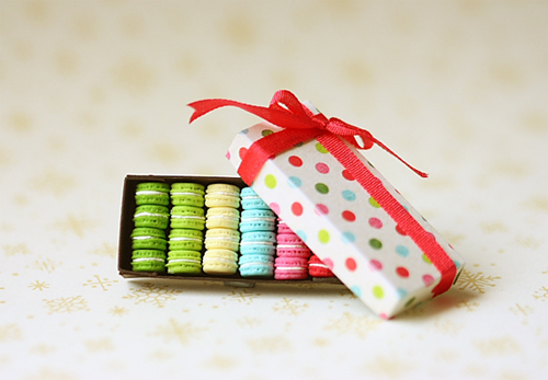 Dollhouse Miniature Food - French Macarons