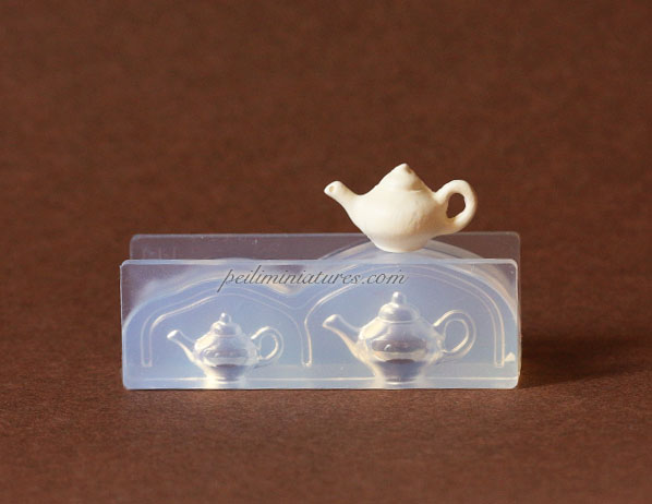 Dollhouse Miniature Teapot Silicone Mold