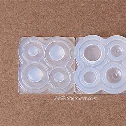 Dollhouse Miniature Round Container Silicone Mold