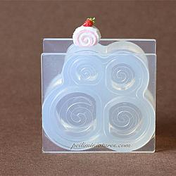 Dollhouse Miniature Swiss Roll Cake Silicone Mold