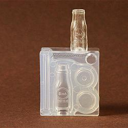 Dollhouse Miniature Milk Bottle With Lid And Straw Silicone Mold