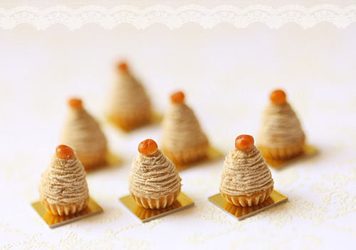 Miniature Dollhouse Food - Mont Blanc Dessert in 1/12 Scale