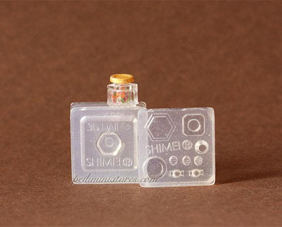 Dollhouse Miniature Octagon Candy Jar OR Jam Jar