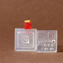 Dollhouse Miniature Square Candy Jar OR Jam Jar