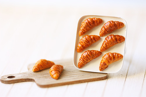 Food Jewelry - Butter Croissants on Tray Ring