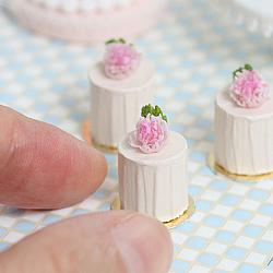 Doll House Cake - Romantic Pink Peonies Mini Cakes