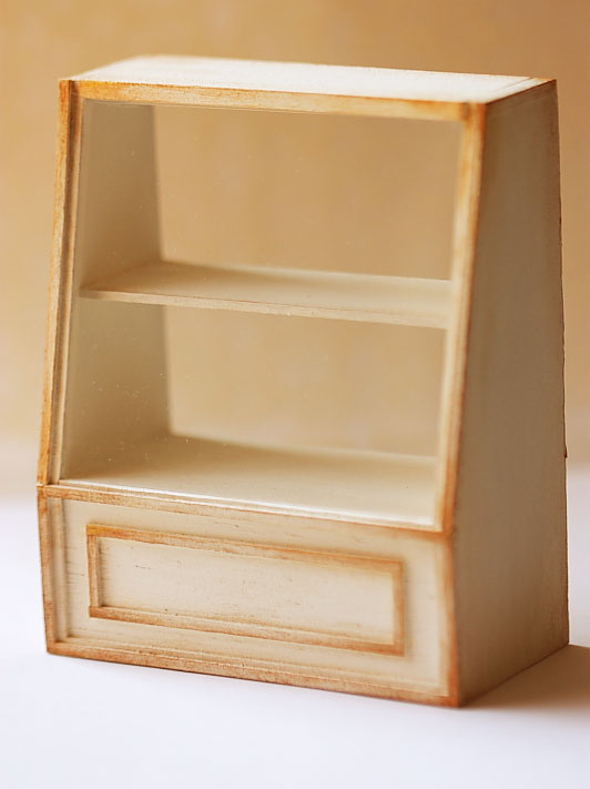 Dollhouse Miniature Bakery - 1/12th Scale Antique White Cake Shelf-dollhouse miniature bakery, cake shelf 1/12