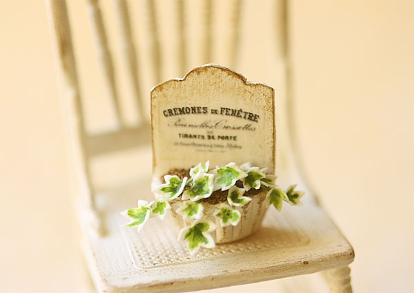 Dollhouse Miniature - French Chic Ivy Plant - Style 2-dollhouse miniature, dollhouse miniature plant, french chic ivy plant