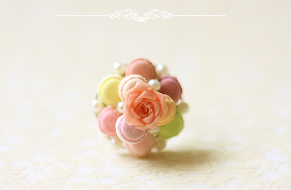 Food Jewelry - Feminine Macaron Ring