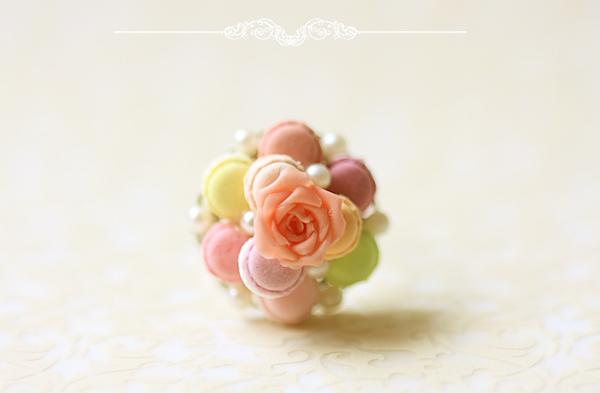 Food Jewelry - Feminine Macaron Ring-food jewelry, macaron ring