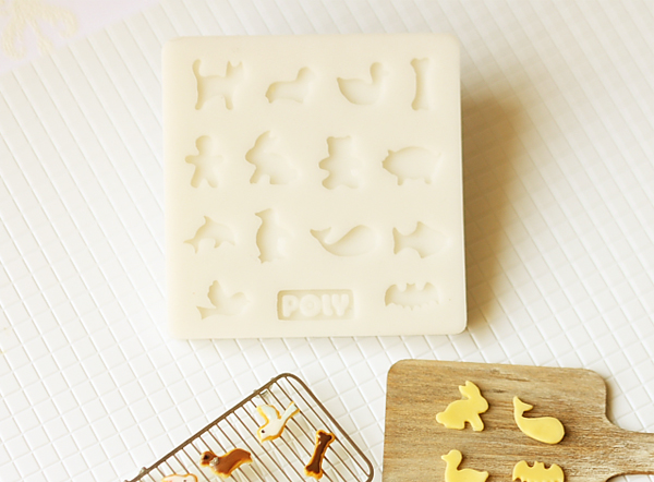 Miniature Clay Mold Push Mold for Dollhouse Miniature Animal Shape Cookies-miniature clay mold, air dry clay mold