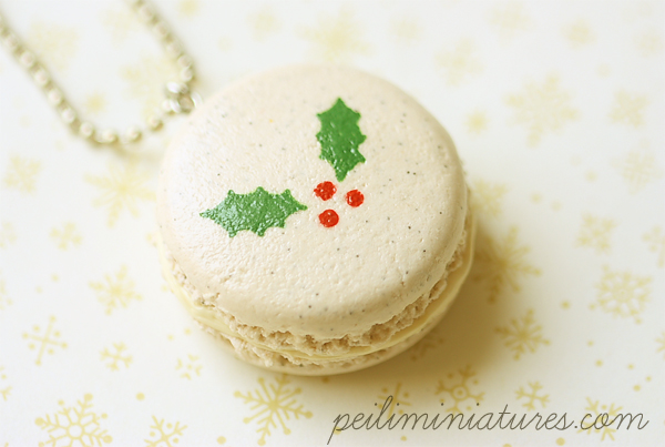 Christmas Necklace - Christmas Macaron Necklace-christmas necklace, christmas macaron, christmas jewelry