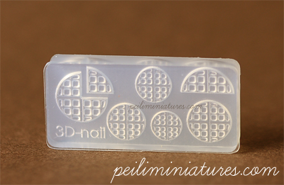 Waffles Mold-waffles mold, air dry clay mold, miniature clay food mold