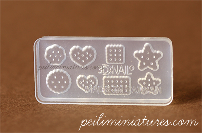Cookie Mold 2-cookie mold, air dry clay mold, miniature food mold