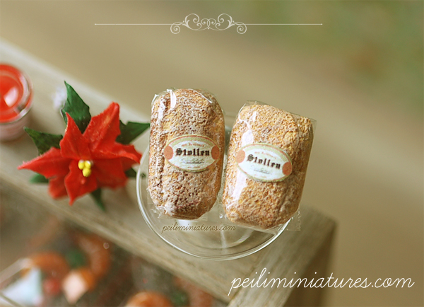 Dollhouse Miniature Food - Christmas Stollen Bread