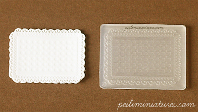 Doily Mold - Rectangle Shape Mold - Silicone Lace Mold