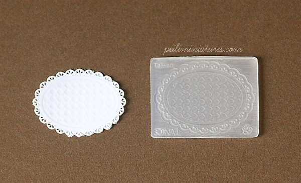 Doily Mold - Oval Mold - Silicone Lace Mold-Doily Mold, Oval Mold, Silicone Lace Mold