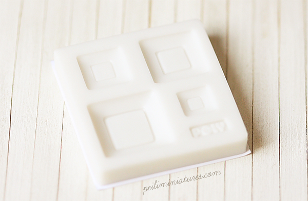 Miniature Clay Mold � Push Mold for Making Dollhouse 1/12 Scale Square Plates-Miniature Clay Mold � Push Mold for Making Dollhouse Miniature 1/12 Scale Square Plates