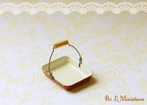 Dollhouse Miniature 1/12 Scale Multi Purpose Antique Tray-Dollhouse Miniature 1/12 Scale Multi Purpose Antique Tray
