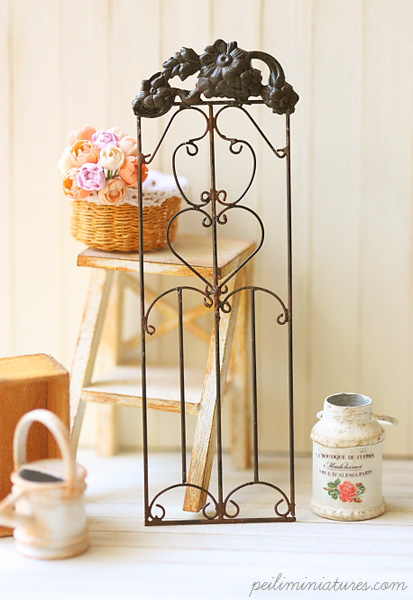 French Style Wrought Iron Grill Door